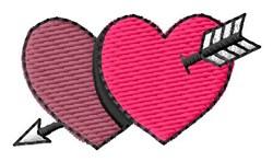 Heart & Arrow embroidery design