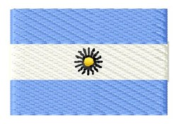 Argentine Flag embroidery design