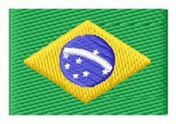Brazilian Flag embroidery design