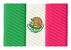 Mexican Flag embroidery design