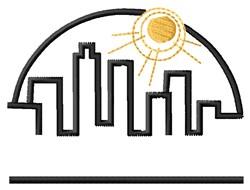 City Scape embroidery design