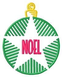 Noel Ornament embroidery design