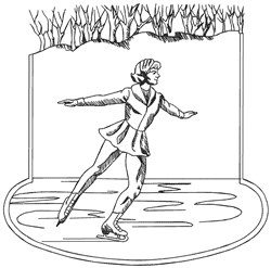 Ice Skater embroidery design