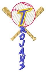 Trojans Baseball embroidery design