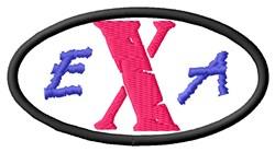 EXA embroidery design