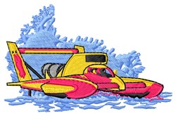 Race Boat embroidery design
