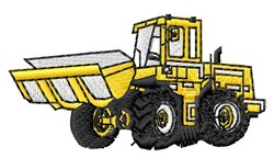 Front End Loader embroidery design