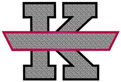 Aplique Banner K embroidery design