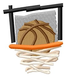 Basketball Net embroidery design