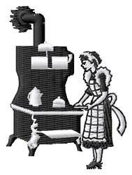 Antique Stove embroidery design