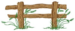 Western Fence embroidery design