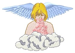 Cloud Angel embroidery design
