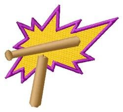 T Baseball Bat embroidery design
