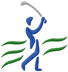 Golfer Man embroidery design