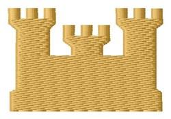 Castle Silhouette embroidery design
