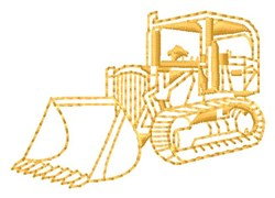 Construction Loader embroidery design