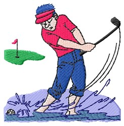 Water Trap Golfer embroidery design