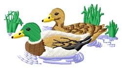 Mallards Birds embroidery design