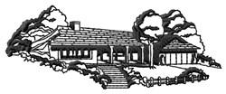 House Landscape embroidery design