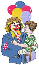 Clown Child embroidery design