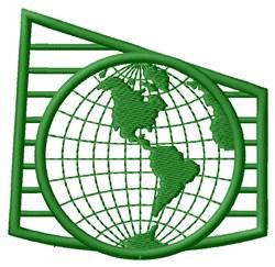 Globe Logo embroidery design