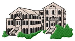 Business Building embroidery design