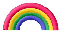 Rainbow Arch embroidery design