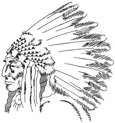 Chief Man embroidery design