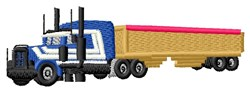 Semi-Truck embroidery design