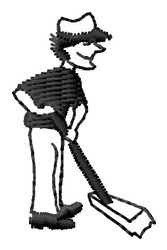 Janitor Sweep embroidery design