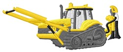 Construction Machine embroidery design
