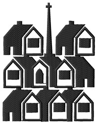 Town Block embroidery design