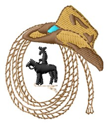 Western Rope embroidery design
