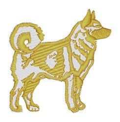 Siberian Husky embroidery design