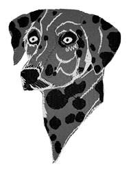 Black Dalmation embroidery design