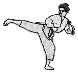 Karate Kick embroidery design