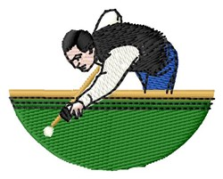 Pool Player embroidery design