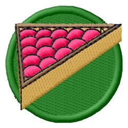 Snooker Rack embroidery design