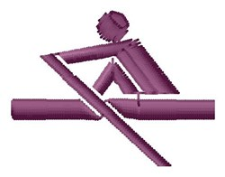 Rower embroidery design