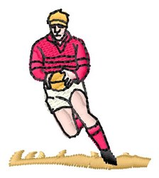 Rugby Player embroidery design