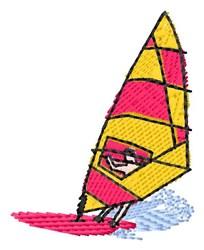 Sailboarder embroidery design