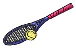 Tennis Racquet embroidery design