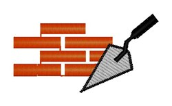 Bricks embroidery design