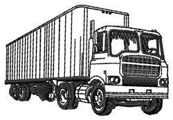 Semi Trailer embroidery design