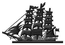Clipper Ship embroidery design
