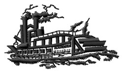 Riverboat embroidery design