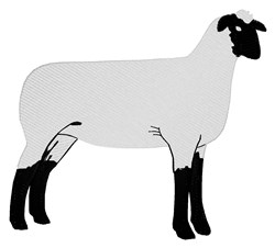 Sheep embroidery design