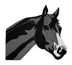 Stallion Head embroidery design