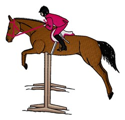 Horse Jumper embroidery design