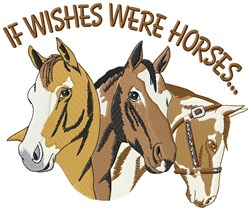 Horse And Wish embroidery design